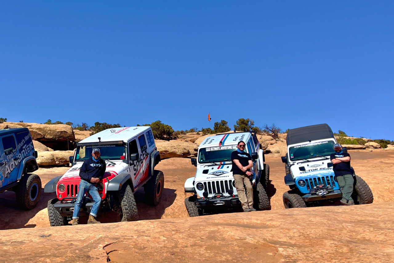 Concentrek at Moab with Jeeps